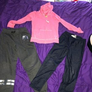 Other - sweatpants, jeggings and pink hooded jacket